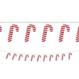 Candy Cane Sequin Ring Garland
