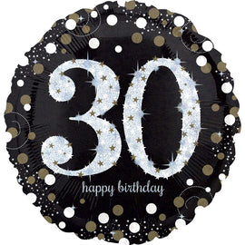 Foil Balloon - Sparkling Birthday 30