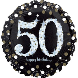 Foil Balloon - Sparkling Birthday 50