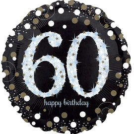 Foil Balloon - Sparkling Birthday 60