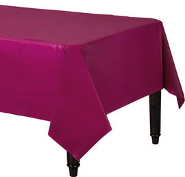 "Berry Rectangular Plastic Table Cover, 54"" x 108"""