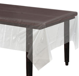 "Clear Rectangular Plastic Table Cover, 54"" x 108"""