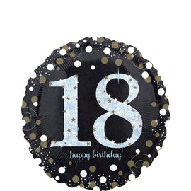 Foil Balloon - Sparkling Birthday 18