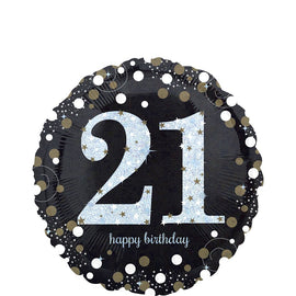 Foil Balloon - Sparkling Birthday 21