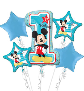 Foil Balloon - Bouquet Mickey 1St Birthday