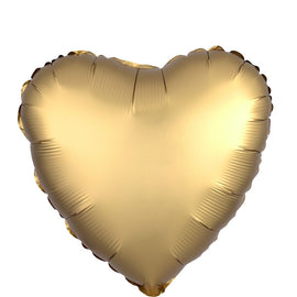 "Foil Balloon - 18"" Hrt Satin Gold"