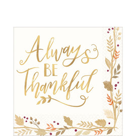 Always Be Thankful Luncheon Napkins