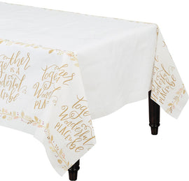Always Be Thankful Paper Table Cover