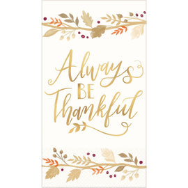 Always Be Thankful Guest Towel