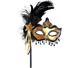 Glitzy Mask on a Stick