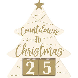 Countdown to Christmas Standing Sign, w/ Numeral Blocks