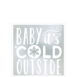 Baby It's Cold Outside Beverage Napkins, Hot-Stamped