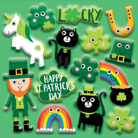 St. Patrick's Day Googly Stickers