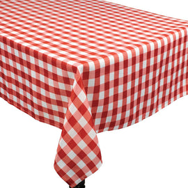BBQ Red Check Fabric Tablecover, 84""