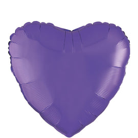 "Foil Balloon - 18"" Hrt Purple"