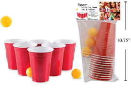 """Red Cup"" Beer Pong Game, 12 cups"