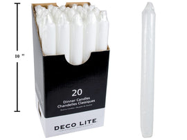 "Deco Lite  10"" Dinner Candle,"