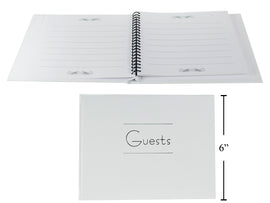 "7.5"" x 5-7/8"" Wedding Guests Book,"