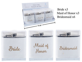 Bridal Party 6oz Wedding Flask,