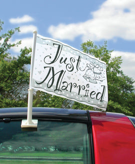 """Just Married"" Car Flag 15"""