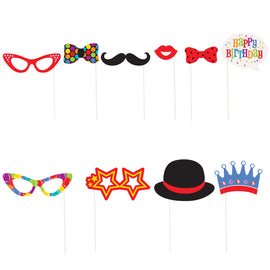 Confetti Birthday Photo Booth Props, 10ct