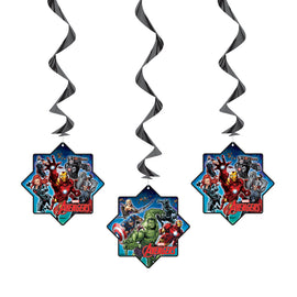 "Avengers Hanging Swirl Decorations, 26"", 3ct"