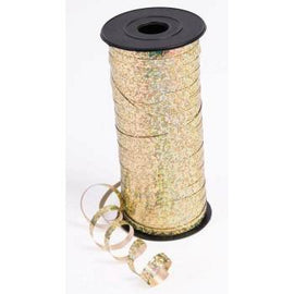 Curling Ribbon - 100 Yd Holo Gold