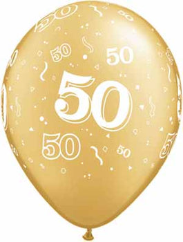 Latex Balloons High Count Bag - 50Th Anniversary Around