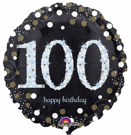 Foil Balloon - Sparkling Birthday 100