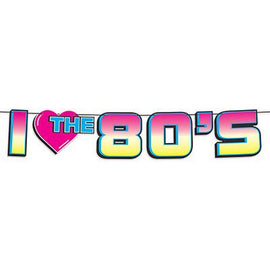I Love The 80's Banner