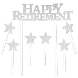 Happy Retirement Cake Topper 6  star picks included
