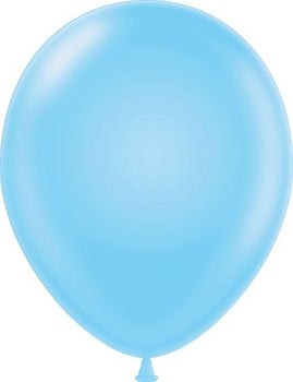 "11"" Tuftex Balloons (12 per package) Baby Blue"