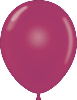 "11"" Tuftex Balloons (12 per package) Burgundy"