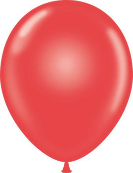 "11"" Tuftex Balloons (12 per package) Crystal Red"