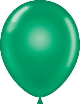 "11"" Tuftex Balloons (12 per package) Emerald Green"