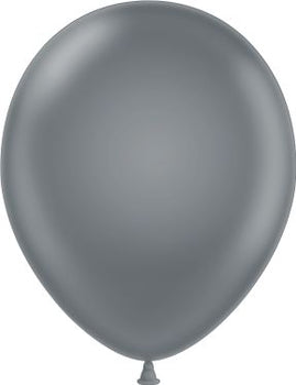 "11"" Tuftex Balloons (12 per package) Gray Smoke"