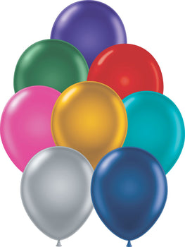 "11"" Tuftex Balloons (12 per package) Metallic Assorted"
