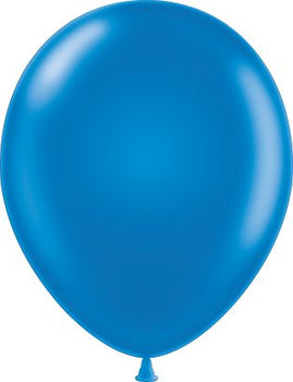 "11"" Tuftex Balloons (12 per package) Metallic Blue"