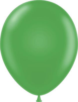 "11"" Tuftex Balloons (12 per package) Metallic Green"