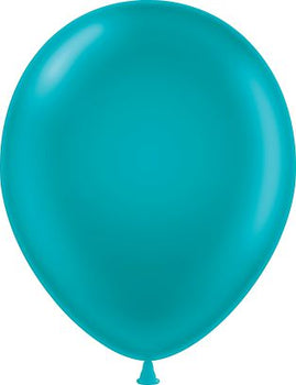 "11"" Tuftex Balloons (12 per package) Metallic Teal"