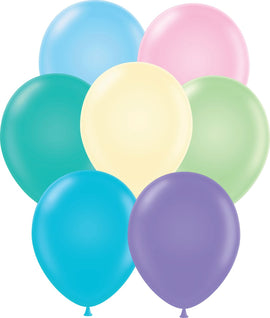 "11"" Tuftex Balloons (12 per package) Pastel Assorted"