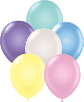 "11"" Tuftex Balloons (12 per package) Pearl Assorted"