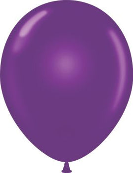 "12"" Balloon 12-count Plum Purple"
