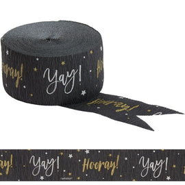 Hooray Yay Crepe- Black/Silver/Gold