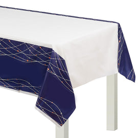Navy Bride Plastic Table Cover
