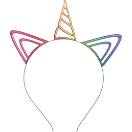 Rainbow Unicorn Metal Headband