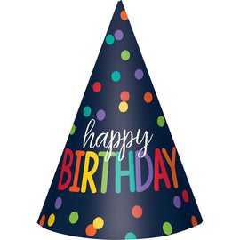 Birthday Accessories Rainbow Paper Cone Party Hat