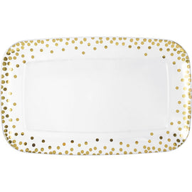Dots Plastic Rectangular Tray - Hot-Stamped