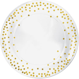 Dots Plastic Round Tray - Hot-Stamped