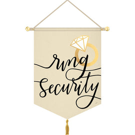 "Hanging Canvas Sign - ""Ring Security"""